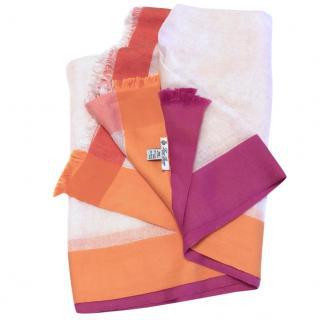 Lord Piana Linen/Silk Colour-block scarf