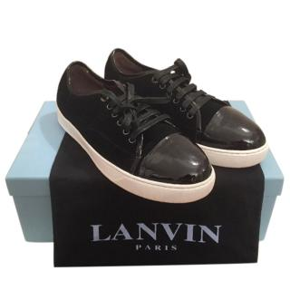 Lanvin Mens Black Trainers