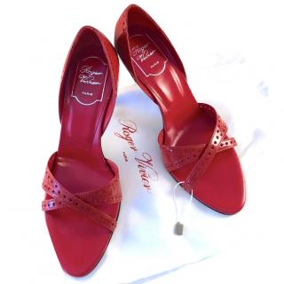 Roger Vivier Red Patent Leather Sandals