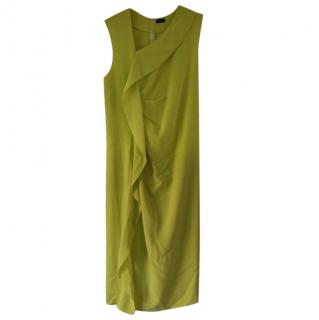Joseph Lime Yellow Anya Ruffle Front Dress