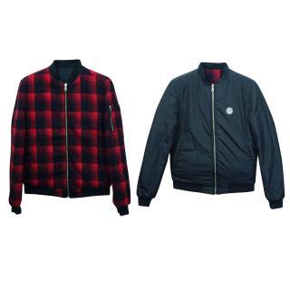 Daniele Alessandrini Reversible Wool Blend Bomber Jacket
