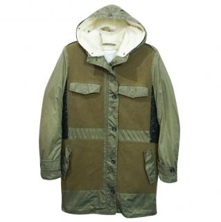 Surface To Air 2 in 1 Khaki Green Wool Parka Jacket