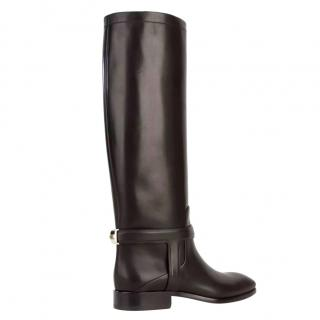 Dior black riding boots