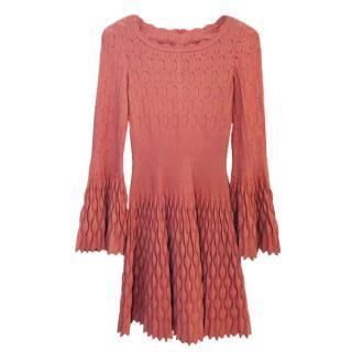 Alaia Knit Fit & Flare Mini Dress