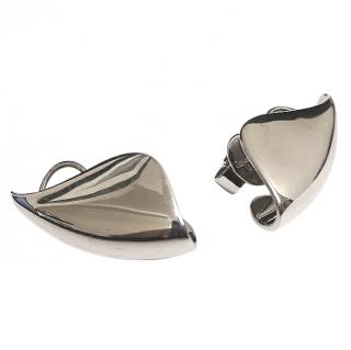 AS29 Silver Lobe Earrings RRP �539.00