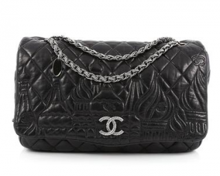 Chanel Black Jumbo Moscow Flap Bag