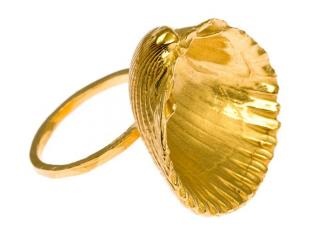 Daisy Knights large gold shell ring