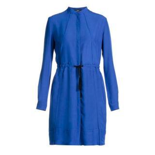 Diesel Blue Long Sleeved Button Down Shirt Dress