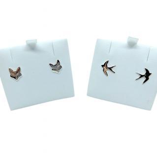 Elements Fox & Swallow Stud Earrings Set