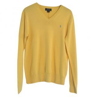 Polo Ralph Lauren Men's Yellow Knit Sweater