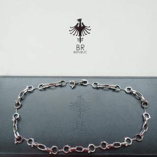 BR Republic bespoke silver handcuffs chain