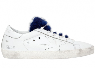 Golden Goose Superstar Mink Trim Sneakers w/Box