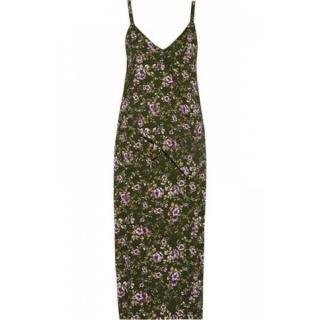 ROCHAS floral print crepe dress