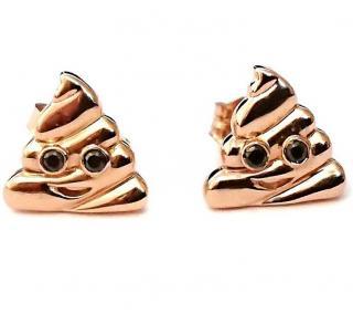 Alison Lou Emoji Earrings 14ct Gold Diamond