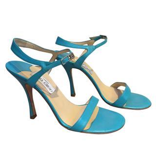 Jimmy Choo Turquoise Heeled Sandals