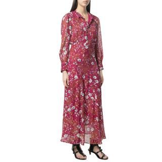 Isabel Marant Maxene Floral Silk Dress
