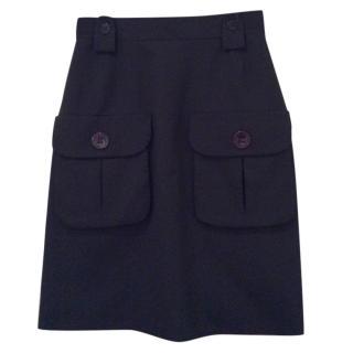 Mulberry Tippi Navy Skirt