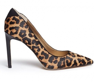 Sam Edelman Dea leopard print calf hair pointed-toe pumps