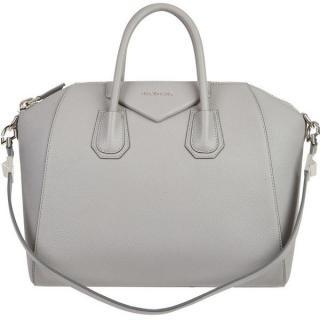 new  Givenchy Grey Medium Antigona Leather Bag