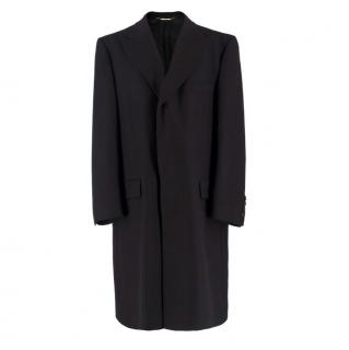 Dolce & Gabbana Black Wool and Cashmere Coat