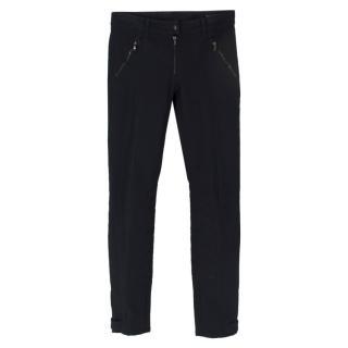Alexander McQueen Black Biker Trousers
