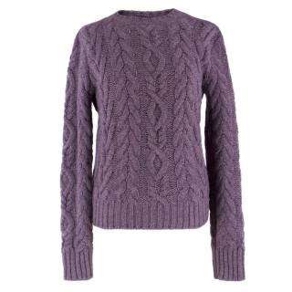Ralph Lauren Collection Purple Cashmere Jumper