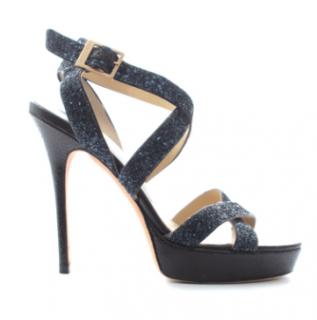 Jimmy Choo 'Vamp' Glitter Strap Sandals