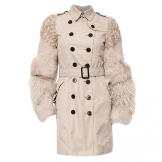 Burberry fur trench coat