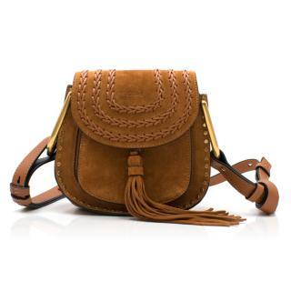 Chloe Caramel Hudson Mini Whipstitched Suede Shoulder Bag
