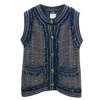 Chanel Wool/Alpaca Tweed Paris - Byzance Collection Waistcoat