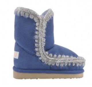 Mou Girl's Blue Mini Eskimo Boots