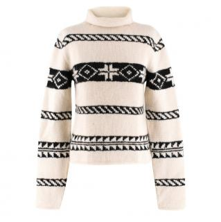 Ralph Lauren Collection Cashmere Patterned Chunky Roll-neck Jumper