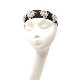 Marni Black Embellished Headband