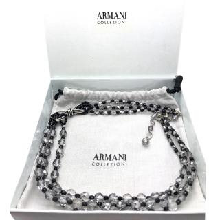 Emporio Armarni Three Strand Glass Crystal Necklace