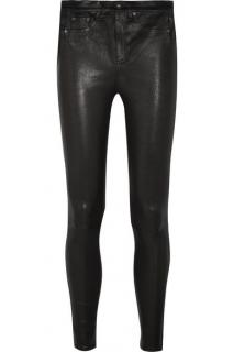 Rag & Bone Stretch-Leather Skinny Trousers