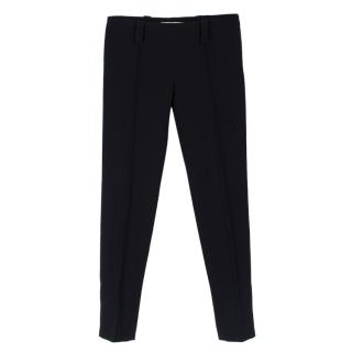 Balenciaga Black Pleated Tapered Trousers