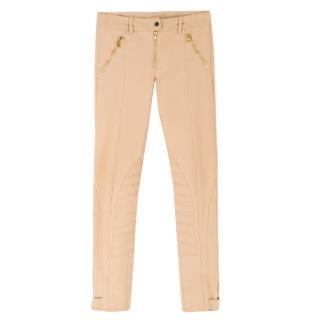 Alexander McQueen Camel Biker Trousers