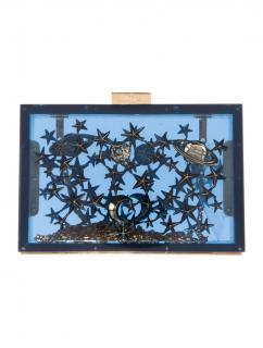Valentino Blue Cosmos Acrylic Clutch