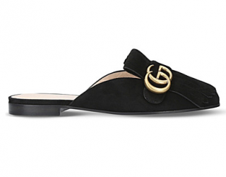 Gucci Marmont suede slippers
