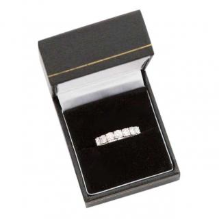 ASPREY platinum and diamond half eternity ring