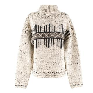 Isabel Marant Elwyn Graphic Wool-blend Jumper