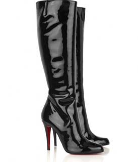 Christian Louboutin Black Bourge 100 Patent Boots