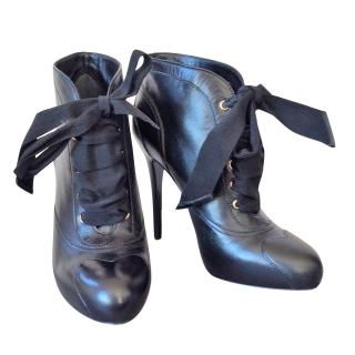 MCQ Alexander McQueen Ribbon Tie Ankle Boots