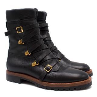 Dior Black Wildior Biker Boots