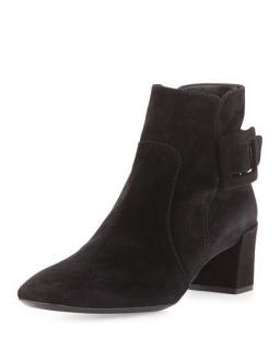 Roger Vivier classic buckle suede boots