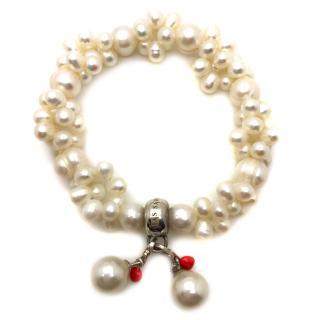Thomas Sabo Cream Faux Pearl Bracelet