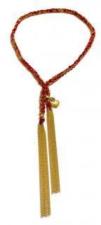 Carolina Bucci 18k Gold & Red Silk Bracelet