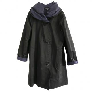 Eileen Fisher Reversible Organic Cotton Nylon Hooded Coat