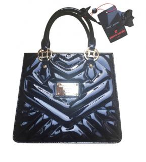 Pierre Cardin Patent Quilted Tote Bag