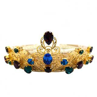 Dolce & Gabbana Crystal Embellished Filigree Tiara